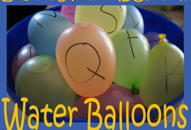 Educational Water Balloons - so many clever, fun summer activities for kids to practice alphabet letters, sight words, and more! #summerleraning #kidsactivities #alphabet