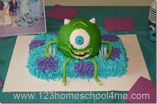 monsters inc cake ideas