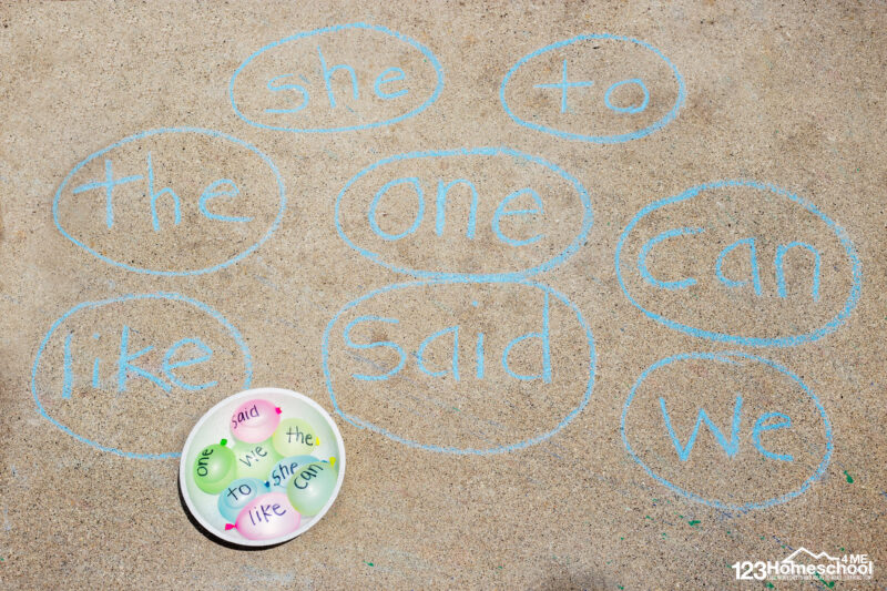 Sight Words Sorting with Water Balloons
