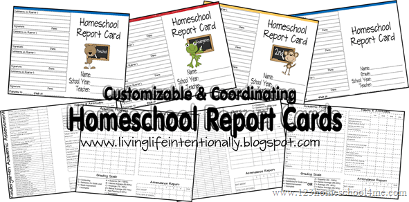 FREE Printable Homeschool Report Cards - perfect for prek, kindergarten, first grade, second grade, third grade, fourth grade