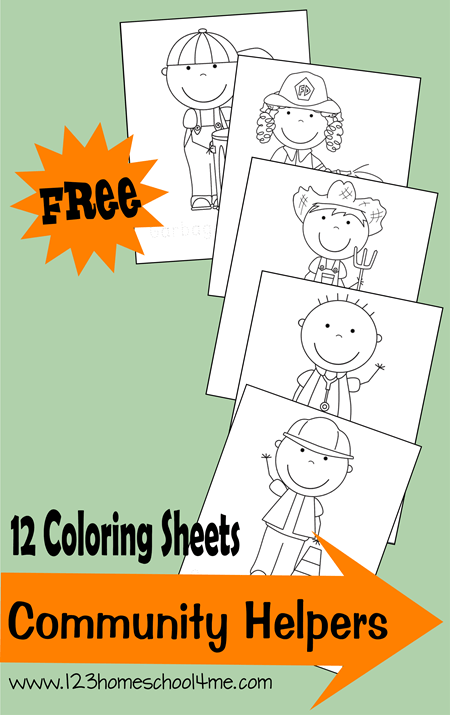 FREE Community Helpers Coloring Pages | 123 Homeschool 4 Me