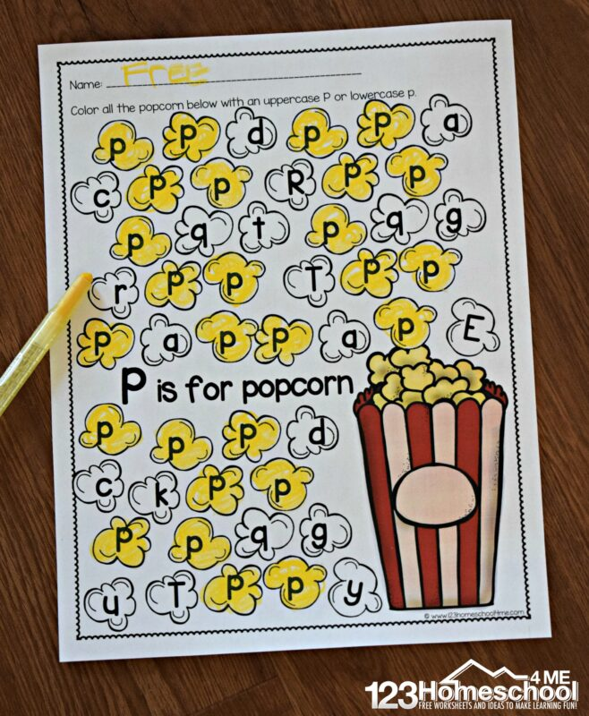 FREE Letter Recognition Worksheets - super cute themed printables from A to Z for preschool and kindergarten age kids #letterrecognition #prek #homeschooling