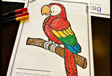 FREE Jungle Animal Coloring Pages - super cute, free printable, simple coloring pages for toddler, preschool, pre k, kindergarten, 1st grade, 2nd grade students. Color simple sheets filled with zoo animals like parrot, sloth, butterfly, ibis, crocodile, tiger, elephant, monkey, poinson dart frog, chameleon and more.