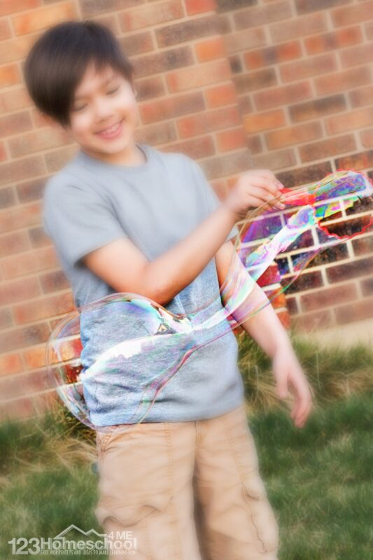 amazing DIY Bubble Solution perfect for summer activities with kids