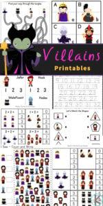 Disney Villain Worksheets