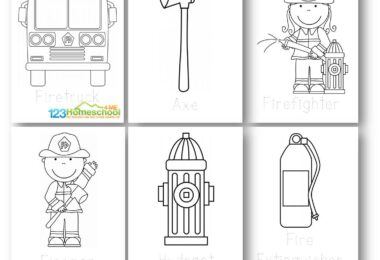 FREE Firefighter Coloring Pages for toddler, preschool, prek, kindergarten to learn about community helpers, fire awareness week in October, and more