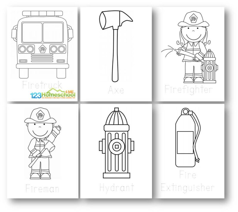 View 12 Firefighter Coloring Sheet
