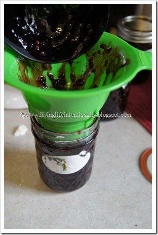 pour into sterilized jars
