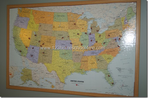 where we've been map - kids activity