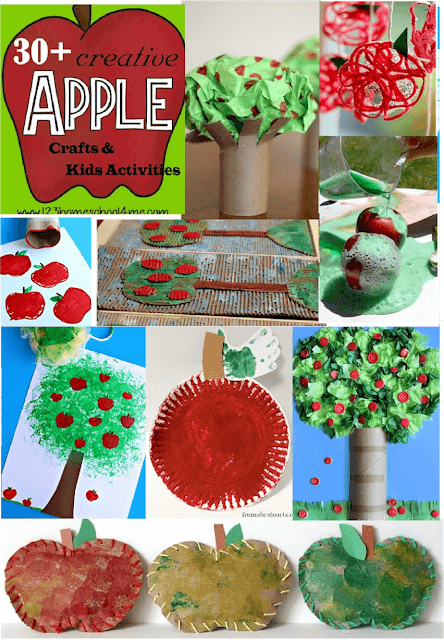 30 Apple Crafts & Kids Activities - so many fun, creative, and unique crafts for kids in September. Perfect for toddler, preschool kindergarten, first grade, and 2nd grade kids. #apples #craftsforkids #september #preschool