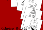 FREE FREE Firefighter Coloring Sheets