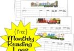 FREE Printable Monthly Reading Logs