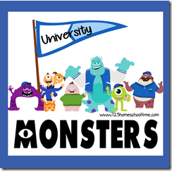 Monsters Inc. Worksheets