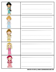 first-grade-worksheets-princess