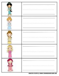first-grade-worksheets-princess