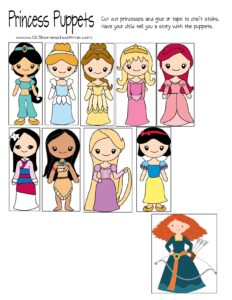 free-printable-princess-puppets