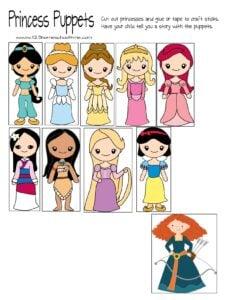 free-printable-princess-puppets