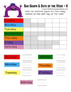learn the days of the week with monsters