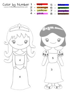princess-color-by-number