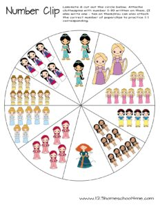 princess-counting-activity-math