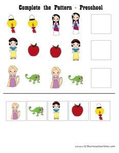 princess-cut-and-paste-worksheets