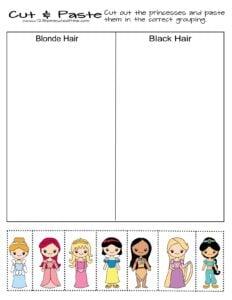 princess-differentiating-worksheets