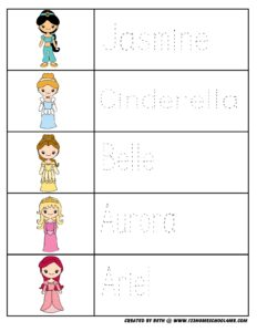princess-preschool-worksheets