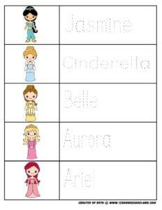 princess-preschool-worksheets