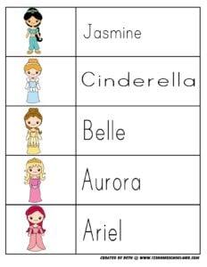 princess-printables