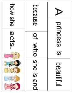 princess-sentence-scramble