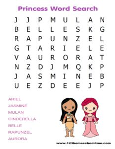 princess-word-search