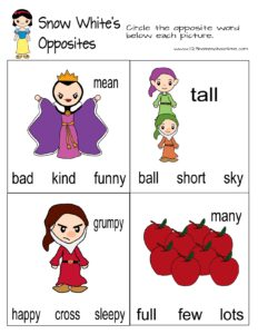 snow-white-opposite-worksheets