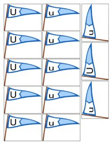 letter u sorting by upper and lowercase