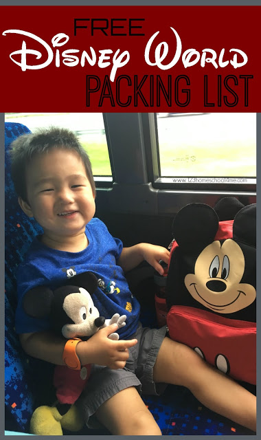 FREE Disney World Packing List - this is the BEST Disney Packing List for Families is comprehensive, family friendly vacation packing list! #disneyworld #disneyvacation #disney