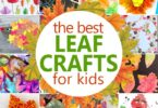 Kids will have fun recreating the beauty of fall these these 36 fun, creative, and unique Leaf Crafts for Kids of all ages.