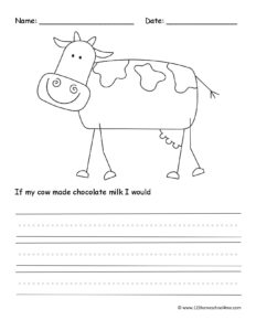farm animal creative writing prompt worksheet