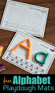 Make practicing forming uppercase and lowercase letters tactile with these alphabet playdough mats. These playdough letter mats give a spot for children to form the upper and lower case letter along with some ruled lines for tracing the letter too. Use these . These FUN alphabet worksheets are perfect for toddler, preschool, and kindergarten kids. Simply download pdf file withabc playdough mats and you are ready to play and learn!