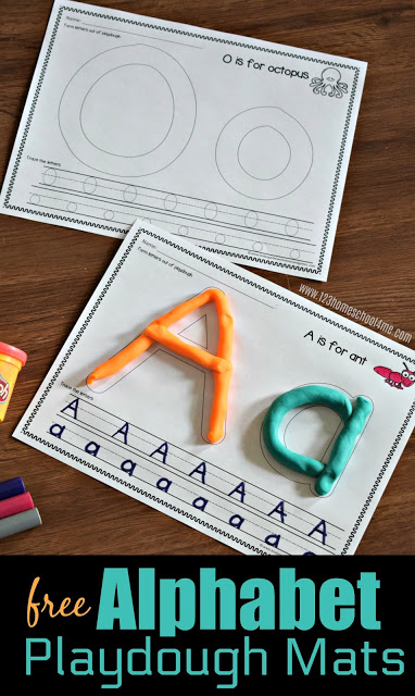 Make practicing forming uppercase and lowercase letters tactile with these alphabet playdough mats. These playdough letter mats give a spot for children to form the upper and lower case letter along with some ruled lines for tracing the letter too. Use these . These FUN alphabet worksheets are perfect for toddler, preschool, and kindergarten kids. Simply print pdf file withabc playdough mats and you are ready to play and learn!
