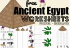FREE Ancient Egypt Worksheets for kids - super cute, free printable Egypt printables for presschool and kindergarten age kids #preschool #kindergarten #worksheetsforkids