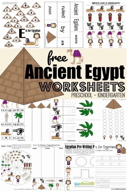 FREE Ancient Egypt Worksheets | 123 Homeschool 4 Me