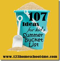 107 Must do Kids Activities for Summer Bucket List