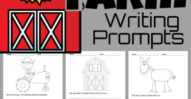 Make it fun for kids to practice writing with these free printable farm creative writing prompts about life on the farm! These free writing prompts will help kindergarten, first grade, 2nd grade, 3rd grade, and 4th grade students get excited to write. Simply download pdf file and have fun improving writing skills with these free farm worksheets for kids!