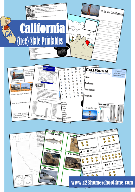 Free California Worksheet