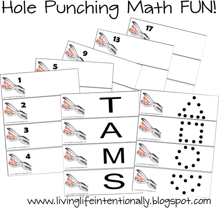 Hole Punching Counting Worksheets