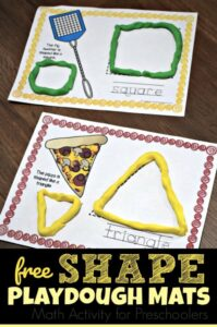 playdough shape activities for preschoolers