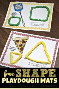 playdough shape activities for preschoolers