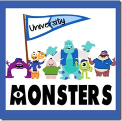 university monsters worksheets for kids 2-8 years old