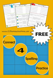 Connect 4 spieling practice printable