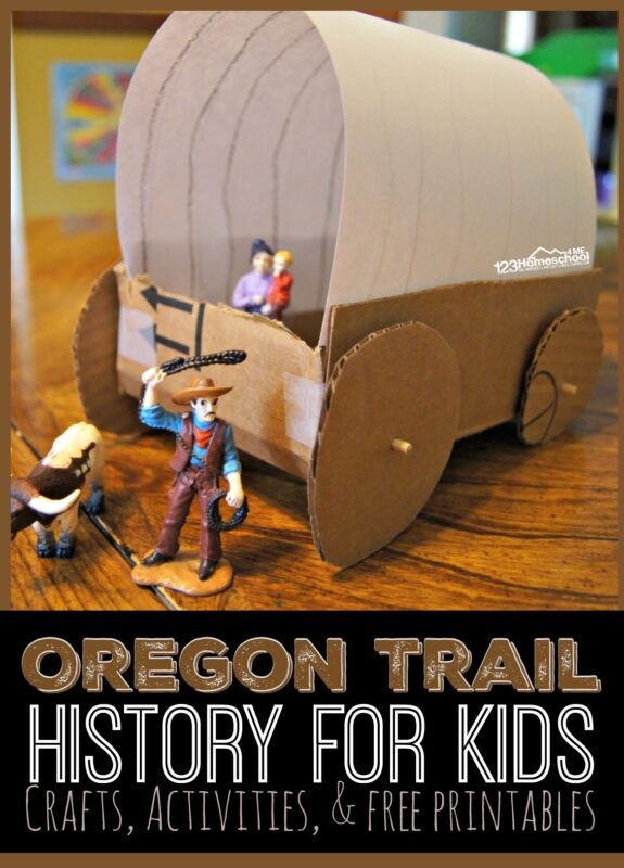 Oregon Trail History for Kids - kids will have fun learning about the oregon trail with these clever oregon trail activities, history crafts, free oregon trail worksheets and more for elementary age kids as they learn about american history and the westward expansion. #historyforkids #homeschooling #oregontrail