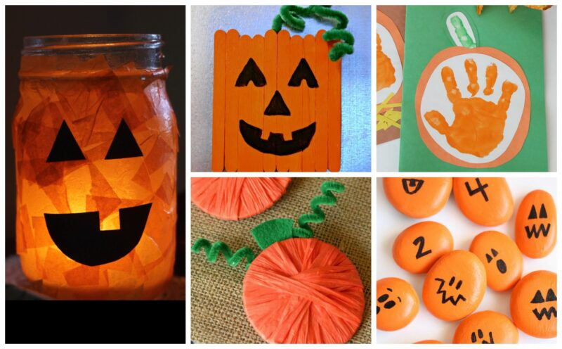 Pumpkin Art Projects for toddlers, preschoolers, kindergartners, grade 1, grade 2, grade 3, and elementary age students
